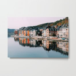 VILLAGE - HOUSE - RIVER - REFLECTION - PHOTOGRAPHY Metal Print