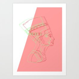 Nefertiti - egyptian heritage Art Print