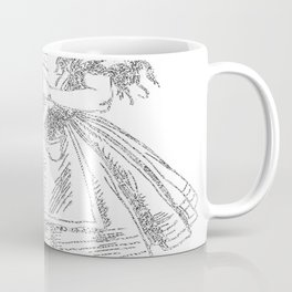 Alice Drink Me Bottle Alice in Wonderland in White with Transparent Background Coffee Mug