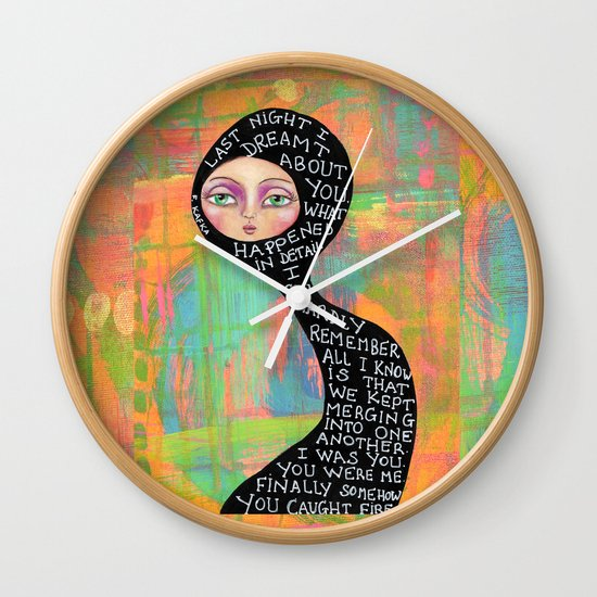 Last night I dreamt about you Wall Clock