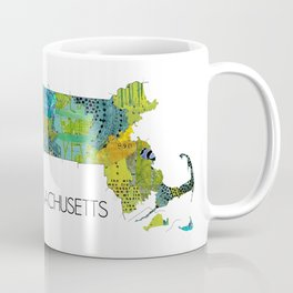 Map of MA Art Collage Coffee Mug