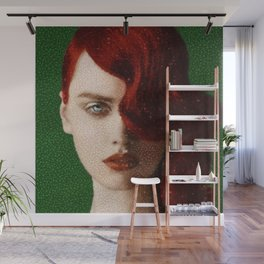 Bet Everything on Red - Female Portrait by Jeanpaul Ferro Wall Mural