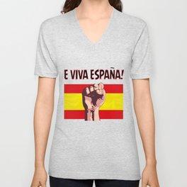 E viva ESPANA Unisex V-Neck