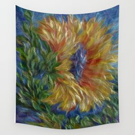Sunflower Painting Wall Tapestry