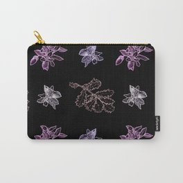 Quercus (black, purple) Carry-All Pouch