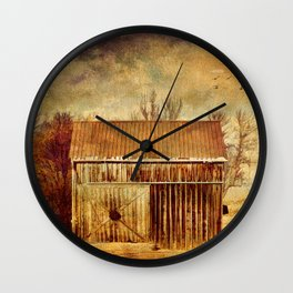 Silence at the Farm Wall Clock