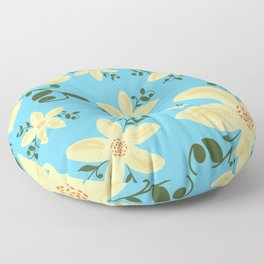 Springy Flowers Floor Pillow