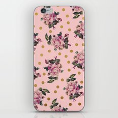 Pink Roses on Pink iPhone & iPod Skin