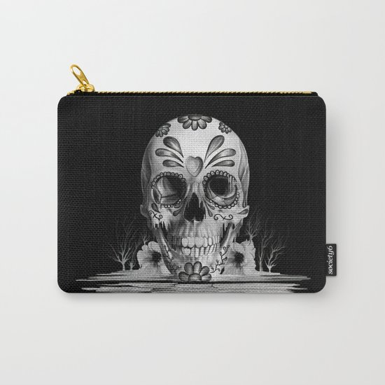 Pulled sugar, day of the dead skull Carry-All Pouch