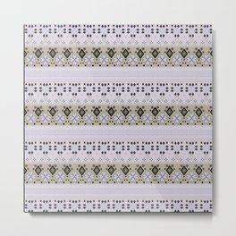 Purple light striped ornament Metal Print