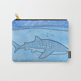 Whale shark and stars Carry-All Pouch
