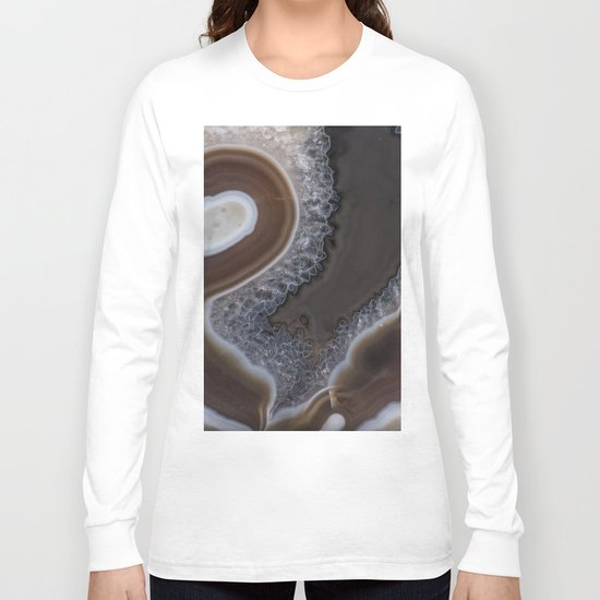 Agate crystal texture Long Sleeve T-shirt