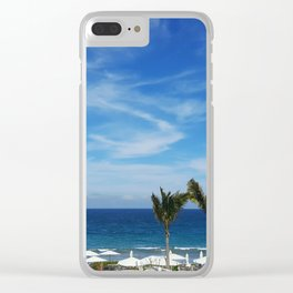 Dream Vacation Clear iPhone Case
