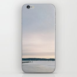Sunset over Frozen Lake iPhone Skin