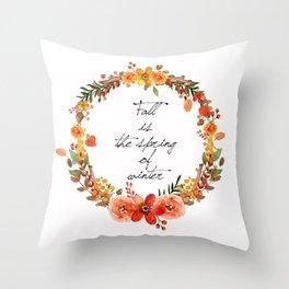 Flower fall Throw Pillow