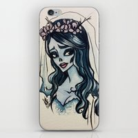 emily rickard iPhone & iPod Skins featuring Emily by Ayesha Khan