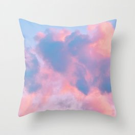cotton candy cloud Throw Pillow