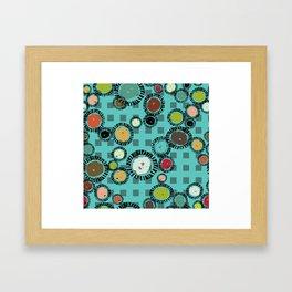 WedgeCircleTuquroise Framed Art Print