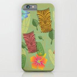 Bamboo Tiki Room Pattern iPhone Case