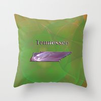 tennessee Throw Pillows featuring Tennessee Map by Roger Wedegis