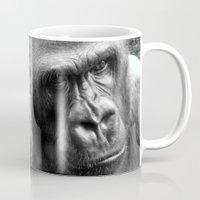 gorilla Mugs featuring Gorilla by SwanniePhotoArt