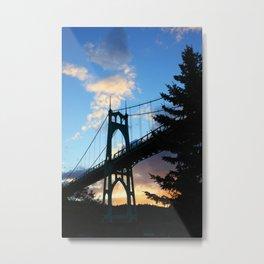 St Johns Bridge. Metal Print