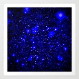 Dark Matter Galaxy Blue Art Print