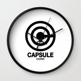 Capsule Corp Logo 2 Wall Clock