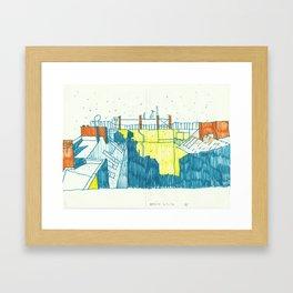Berlin: first snow Framed Art Print