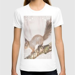 Little squirrel jumping on the branch #decor #society6 #buyart T-shirt