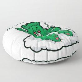 DO NOT CARE BEAR Smoking Bear Hemp Leaf Ganja 420 Floor Pillow