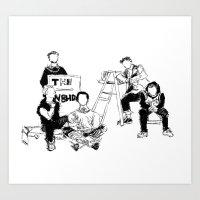 the neighbourhood Art Prints featuring The neighbourhood: band  by artbysteph