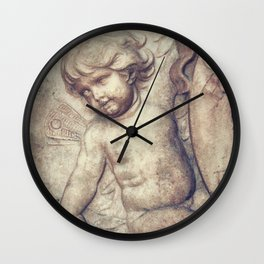 Left Hnad Cherub Wall Clock