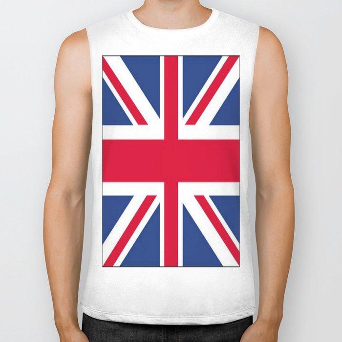 Union Jack 🇬🇧 Flag Of The United Kingdom ♚ Biker Tank