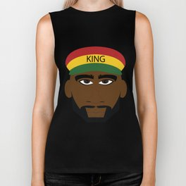 Red Yellow Green Reggae King Biker Tank