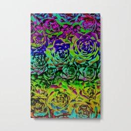 Psychedelic Flower Rows Metal Print