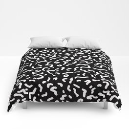 Retro Themed Repeated Pattern Design Comforters