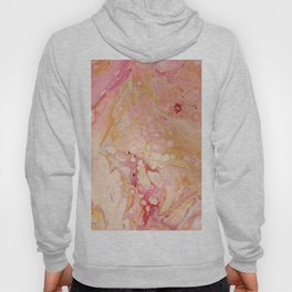 Pink Bubblegum Fun - Abstract Acrylic Pour Art Hoody