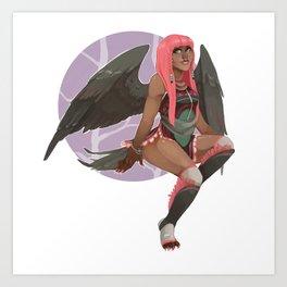 Pink Harpy Art Print