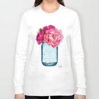 rose Long Sleeve T-shirts featuring Perfect Mason  by Xchange Art Studio