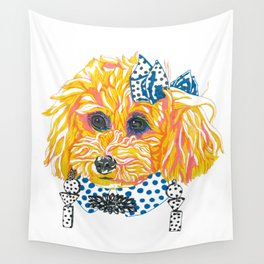1980's Bichpoo Wall Tapestry