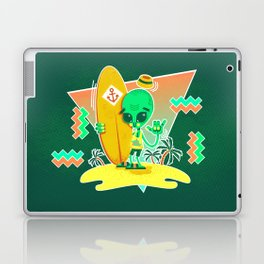 Alien Surfer Nineties Pattern Laptop & iPad Skin