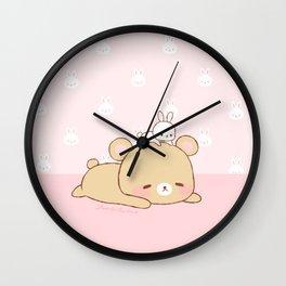 bear and bunny Wall Clock