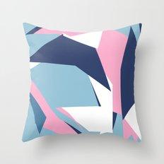 Dow Map Pink Throw Pillow