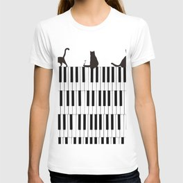 Piano Cat T-shirt