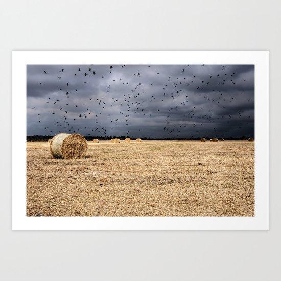A storm is coming Art Print