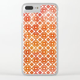 Bohemian Sunny Summer Pattern Clear iPhone Case