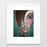 lolita Framed Art Prints featuring LOLITA by Sandra Mucciardi