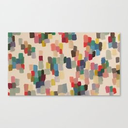 Colorful happy cheerful abstract painting Canvas Print