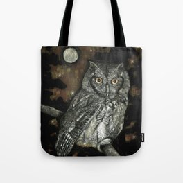 Night Vision // Owl Moon Forest Night Trees Wings Feather Screech Animal Bird Wild Wilderness Tote Bag